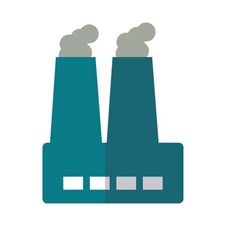 factory smoke on white background vector illustration design Illustration