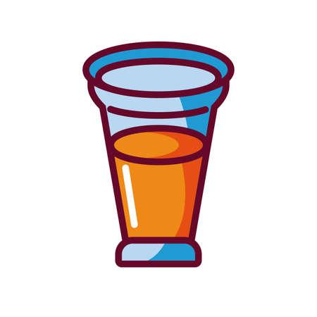 liquor shot icon over white background, fill style icon, vector illustration