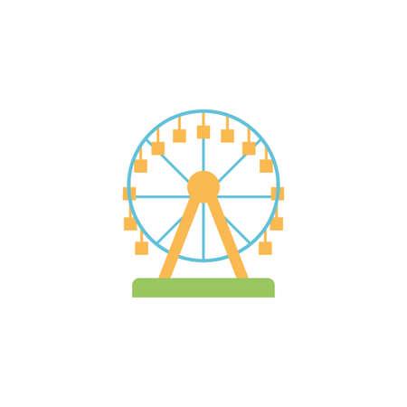 ferris wheel on white background vector illustration design