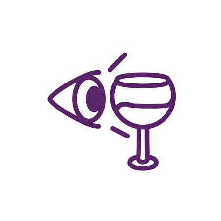 Eye and wine cup design of Winery alcohol drink beverage restaurant celebration and party theme Vector illustration