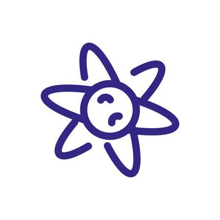 Science Chemistry Atom icon over white background, thick line style, vector illustration Illusztráció