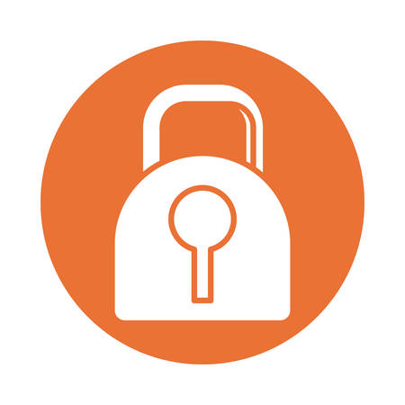 closed padlock , silhouette style icon vector illustration design