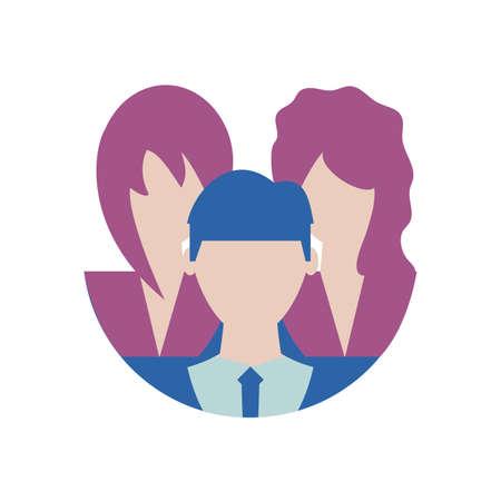 Businesspeople design, Man woman business management corporate job occupation and worker theme Vector illustration Reklamní fotografie - 147386311