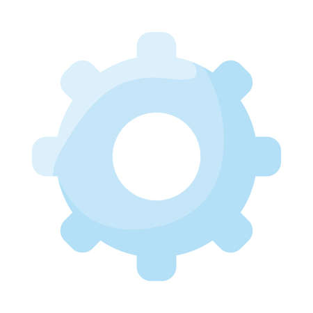 Gear flat style icon design, construction work repair machine part technology industry and technical theme Vector illustration Illustration