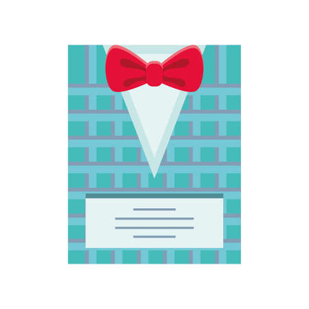 fathers day card template with bowtie vector illustration design
