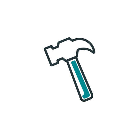 hammer design, Construction work repair reconstruction industry build and project theme Vector illustration Иллюстрация