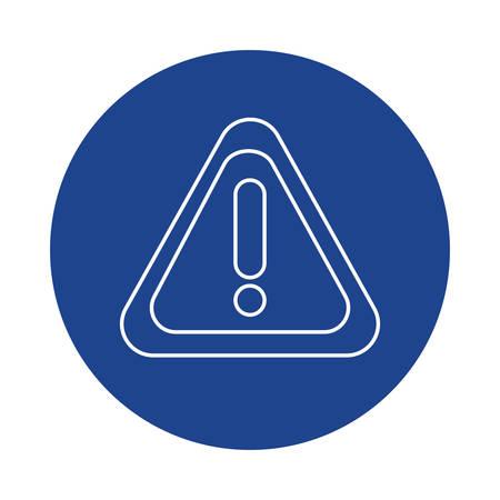 warning sign, line block style icon vector illustration design Иллюстрация