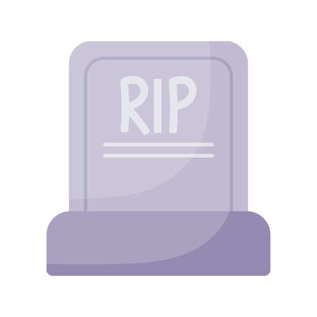 rip grave flat style icon design, Religion culture belief religious faith god spiritual meditation and traditional theme Vector illustration Ilustracja