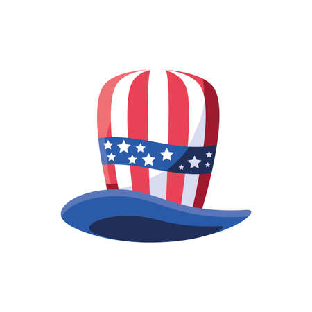 Usa flag hat design, United states america independence nation us country and national theme Vector illustration