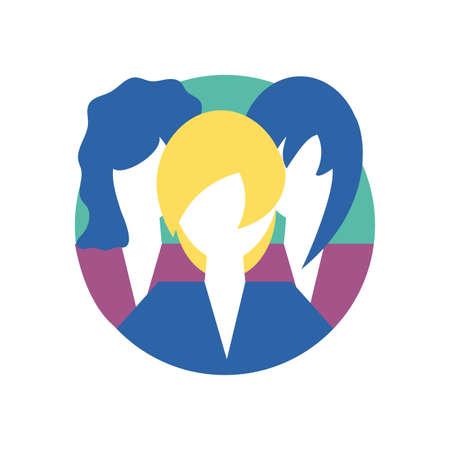 women avatars design, Woman girl female person people human and social media theme Vector illustration