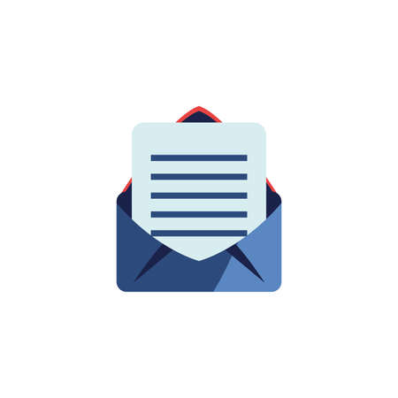 Envelope icon design, Email mail message letter marketing communication card and document theme Vector illustration Ilustracja