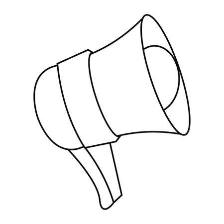 megaphone object icon on white background vector illustration