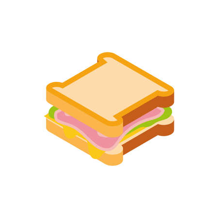 sandwich design, Eat food restaurant menu dinner lunch cooking and meal theme Vector illustration Ilustracja