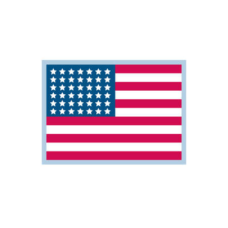 Usa flag design, United states america independence labor day nation us country and national theme Vector illustration Vectores