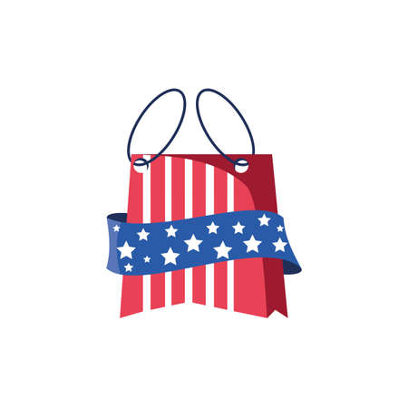 Usa flag bag design, United states america independence nation us country and national theme Vector illustration