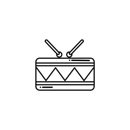 musical instrument drum , flat style icon vector illustration design Illustration
