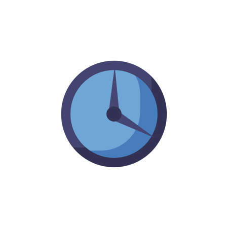 Clock instrument design, Time tool watch second deadline measure countdown and object theme Vector illustration