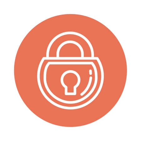 closed padlock, block and flat style icon vector illustration design