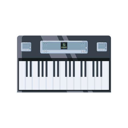 electronic piano on white background vector illustration design