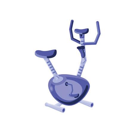 exercise bike for gym on white background vector illustration design