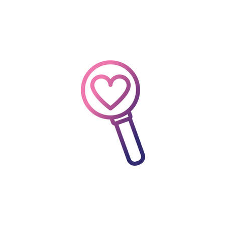 magnifying glass lens,gradient style icon vector illustration design