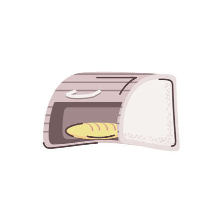 bread toaster icon over white background, flat and colorful design, vector illustration Ilustracja