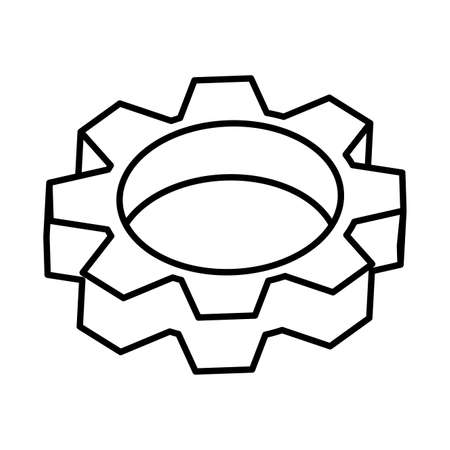 gearwheel tool on white background vector illustration design Vectores