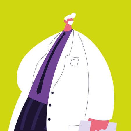 man doctor standing, medical staff vector illustration design Vektoros illusztráció