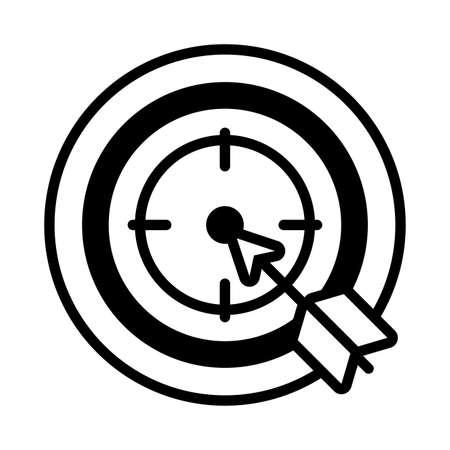 cyber security eye in white background vector illustration design Illustration