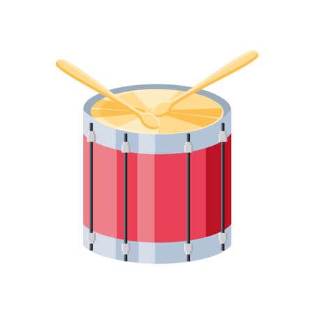 drummer with drumsticks on white background vector illustration design