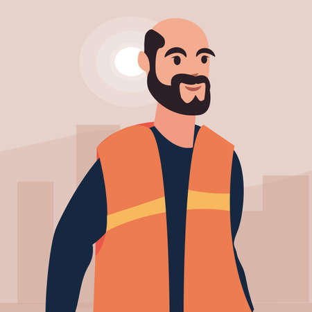 worker employee profession labour day vector illustration Vectores