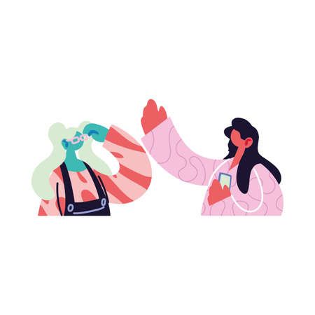 women talking about topics of the day vector illustration design