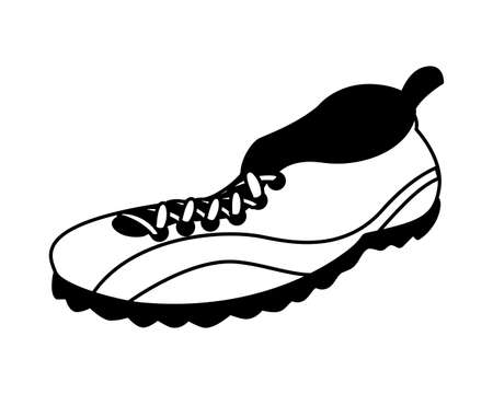 american football shoes on white background vector illustration design