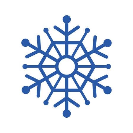 Blue snowflake design, Winter season merry christmas decoration card invitation celebration and holiday theme Vector illustration