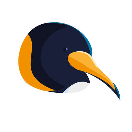 head emperor penguin on white background vector illustration design