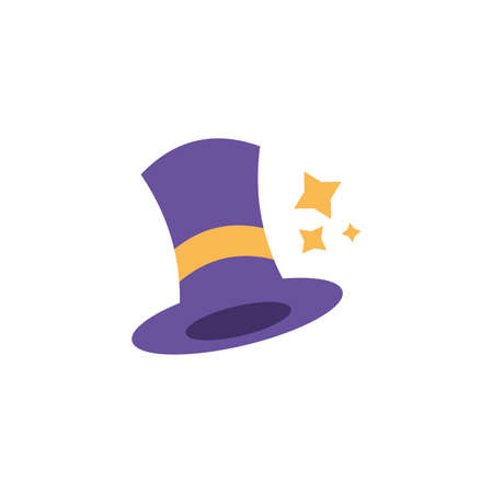 wizard hat with on white background vector illustration design Illustration