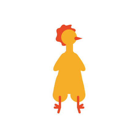 chicken costume over white background, flat style icon, vector illustration