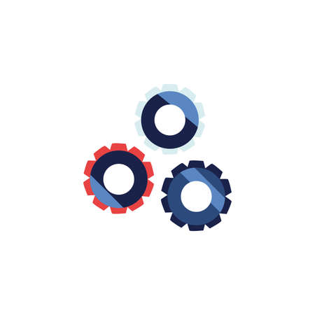 Gears icons design, Cog circle wheel machine part technology industry and technical theme Vector illustration Ilustrace