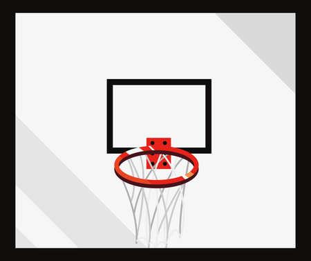 basketball sport hoop backboard design vector illustration Illustration