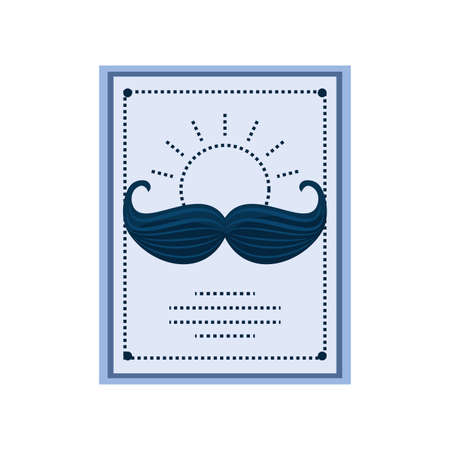 fathers day card template with mustache vector illustration design