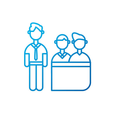 Men meeting design of Entrepreneur businesspeople startup team success teamwork plan idea and person theme Vector illustration