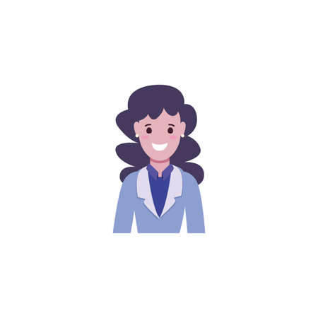 Avatar woman design, Girl female person people human and social media theme Vector illustration Ilustrace