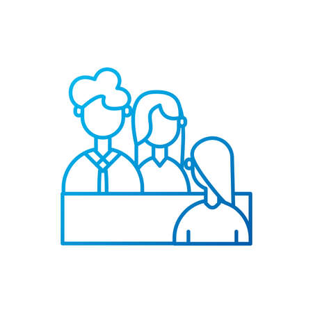People meeting design of Entrepreneur businesspeople startup team success teamwork plan idea and person theme Vector illustration