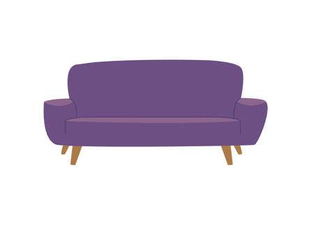 comfortable sofa on white background vector illustration design 向量圖像