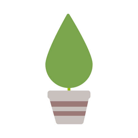 houseplant with potted on white background vector illustration design 向量圖像