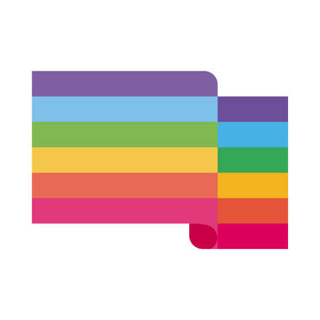 lgtbi flag flat style icon design, Pride day sexual orientation and identity theme Vector illustration  イラスト・ベクター素材