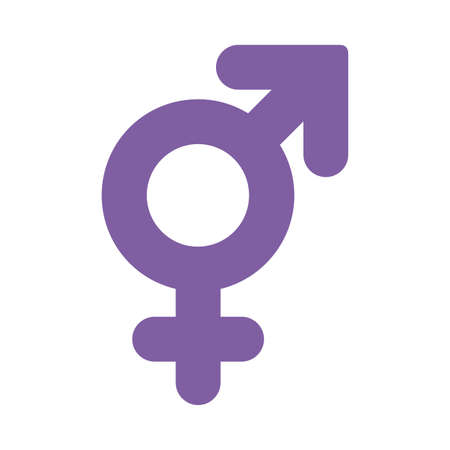 bisexual gender flat style icon design, lgtbi pride day sexual orientation and identity theme Vector illustration