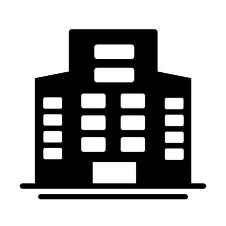 tower of apartment and office building , silhouette style icon vector illustration design
