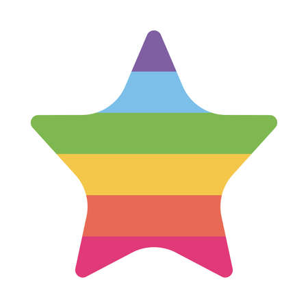 lgbt star flat style icon design, Pride day sexual orientation and identity theme Vector illustration  イラスト・ベクター素材