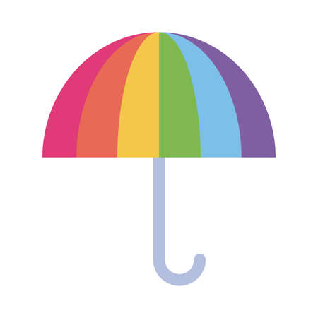lgtbi umbrella flat style icon design, Pride day sexual orientation and identity theme Vector illustration